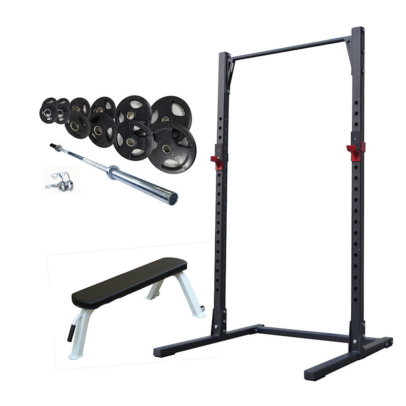 Half Rack Package with Bench and Weight Set