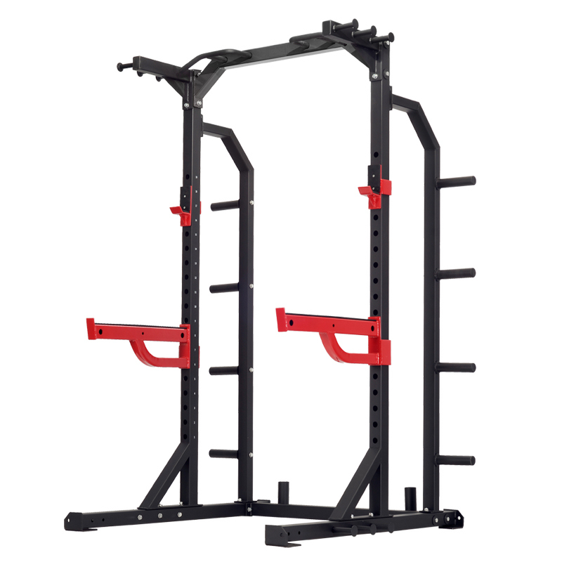 Half Rack with Plate Storage Racks & Band Pegs