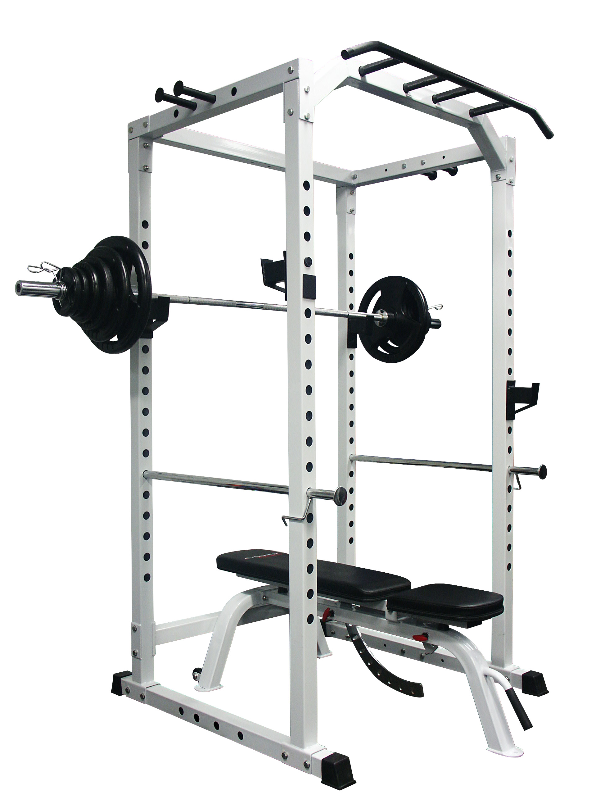 Power Rack Package 100KG Olympic Weight Set Adjustable Bench