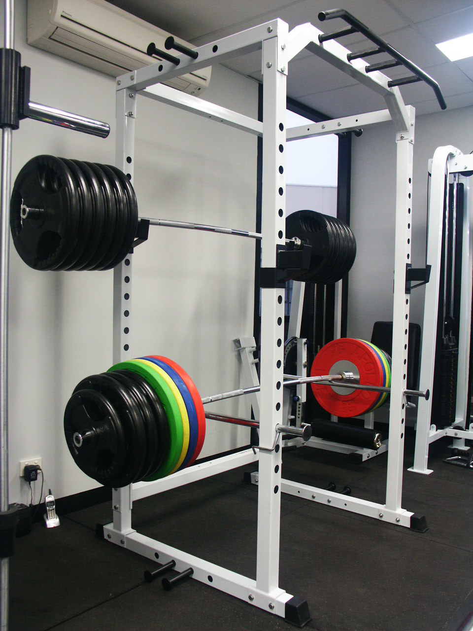 Power rack squat cage free weights gym 400kg rated ebay for A squat rack