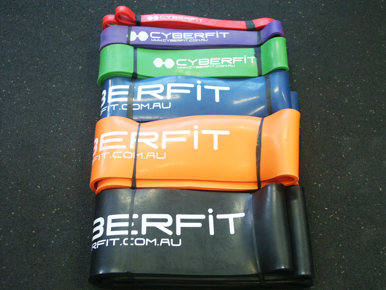 6x Latex Resistance Loop Bands XXS-XXL PACK