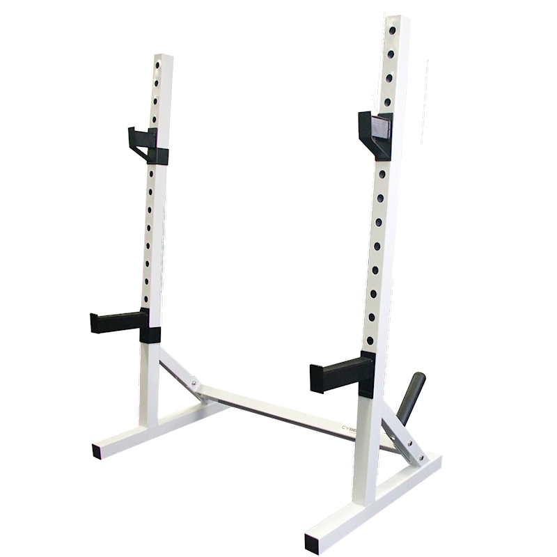 Lc1 squat stands commercial with plate racks ebay for Stand commercial