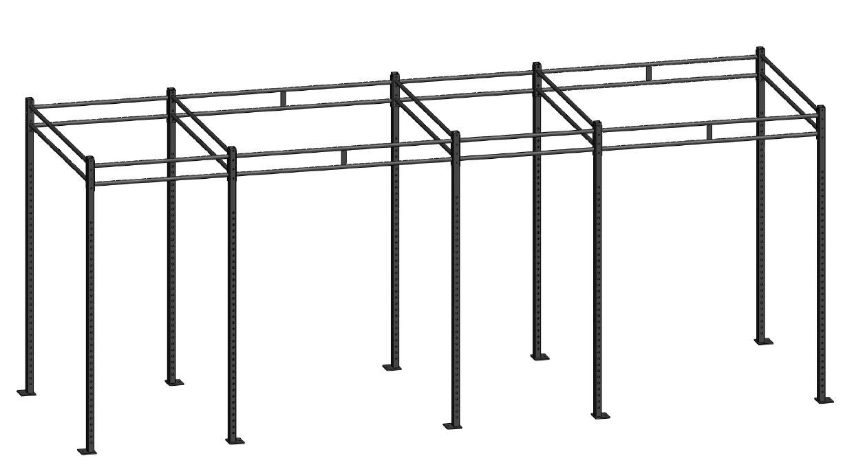 Md4 Crossfit Modular Rack Four Cells Basic