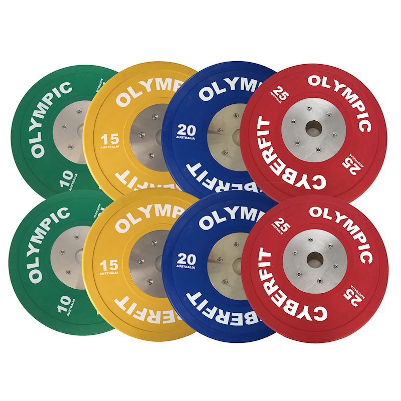 Olympic Bumper Plates Set 140kg ELITE Bumpers  sc 1 st  Cyberfit Gym Equipment & Olympic Weight Set ELITE 140kg Bumpers