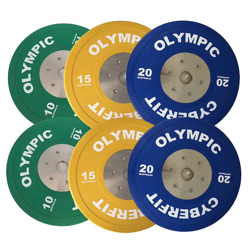 Olympic Bumper Plates Set 90kg ELITE Bumpers  sc 1 st  Cyberfit Gym Equipment & Olympic Weight Set ELITE 90kg Bumpers