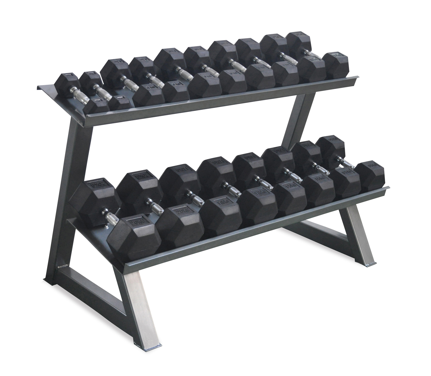 Dumbbell Set 5 25kg With Rack