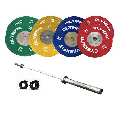 Olympic Bumper Plates Set 160kg with 1000lb Bar